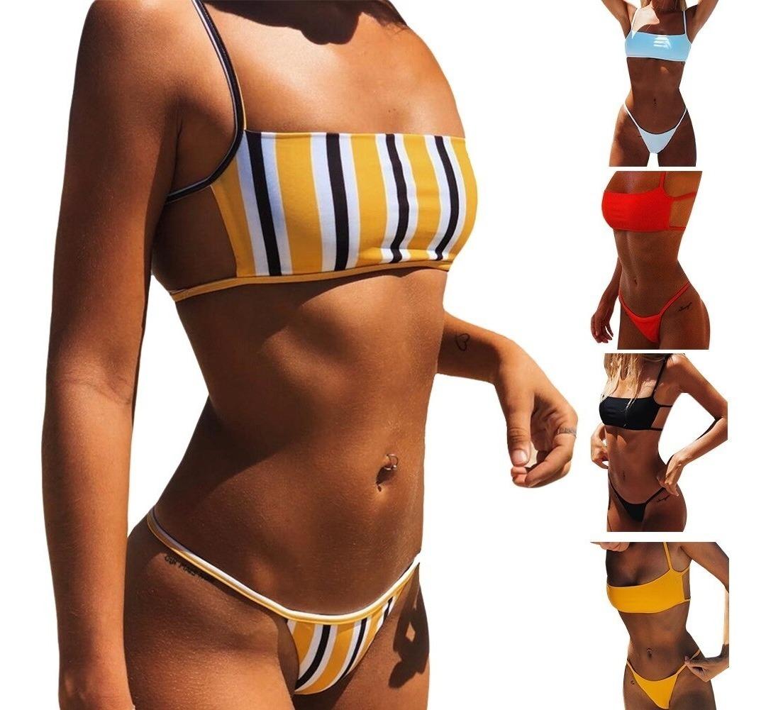 Baño Bikini Varios Traje Tanga Colores De Sexy Brasileño AjL5R4