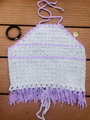 bikini, top, crochet, bohemio, verano, hecho a mano