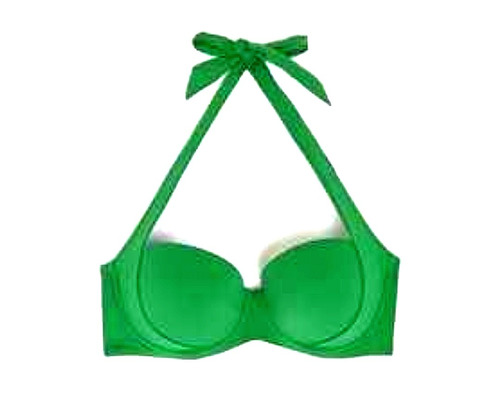 bikini top push up verde esmeralda