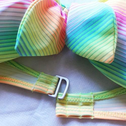 bikini top strapless bandeau y bottom victorias secret t/l