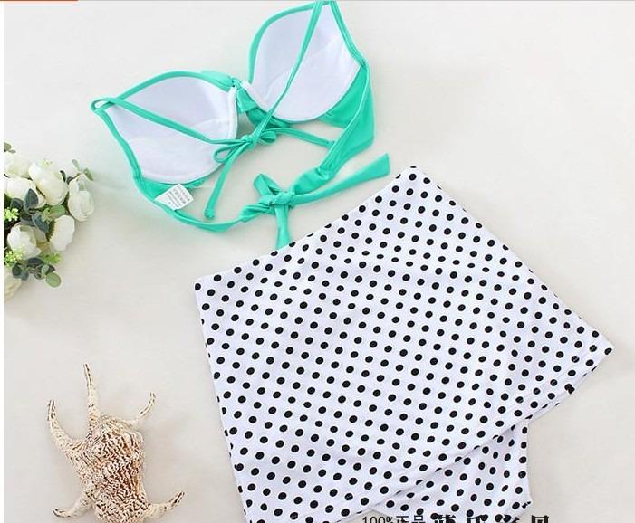 Traje De Baño Mujer Nuevo:Bikini Traje De Baño Dama Mujer Retro Falda Talla Mediana 34 – $ 450
