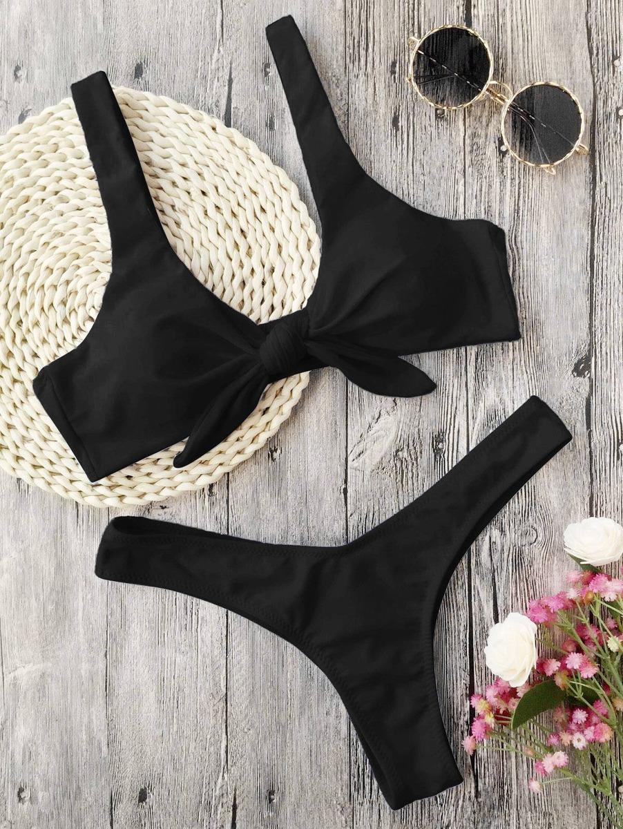 1fefb3d54e7e Bikini Traje D Baño Push Up Dama Sexy Playa Moderno Triangle - $ 655 ...