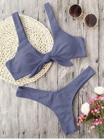 a90d5b32e5aa Bikinis Con Flecos Push Up - Trajes de baño Mujer Bikinis en Mercado ...