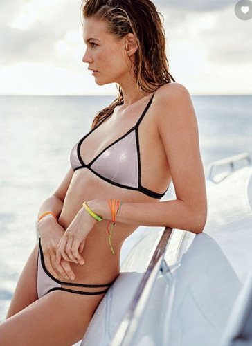 bikini triangulo rosado bebe small playa victoria secret