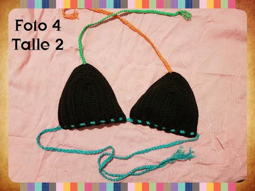 bikini triangulo tejido crochet