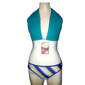 Bikini Turquesa 2 Piezas Talle L Lycra Rimmel Verano2019