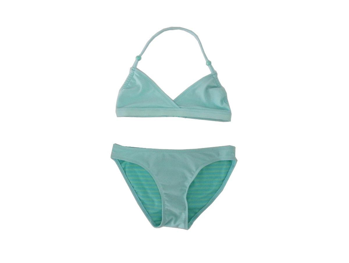 c783ce60f3f0 Bikini Verde Aguamarina C/perlitas En Bretel De H&m De Usa