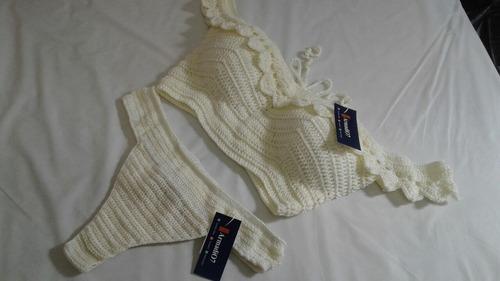 bikini vestido de baño tejido crochet