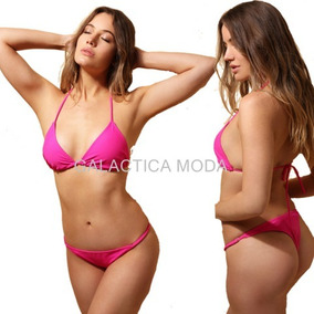 0f499ebf9d685 Bikini Básica En Triángulo Liso Con Less Por Mayor.