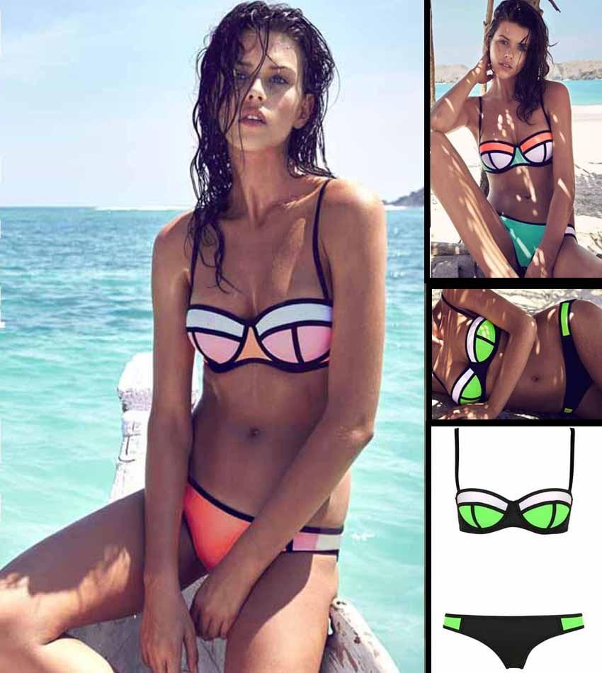 Bikinis Baño De Bañador Triangulo Trajes Sexys Neopreno Pkwn08O