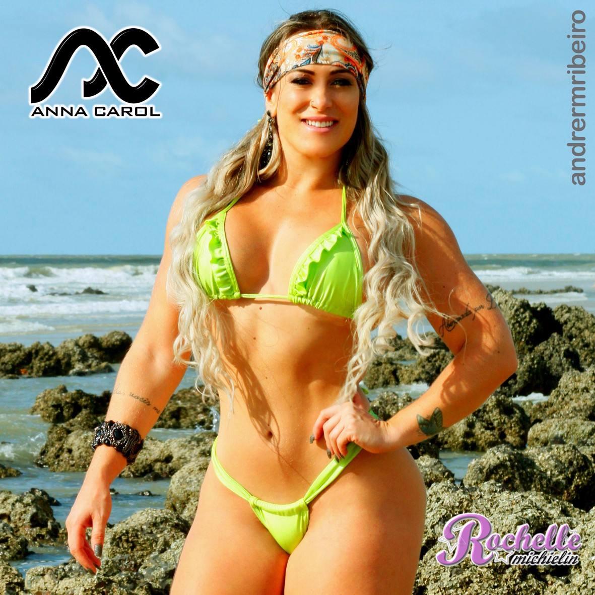 6ebcbf2b9b14 Bikinis Fio Dental Anna Carol Panicats Cirrê Verde Brm-4 - R$ 99,90 ...