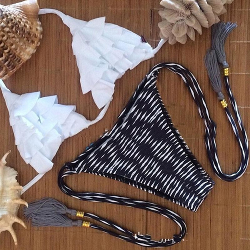 bikinis importadas triangulito volados verano 2018 moda top