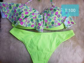 24d170682 Bikinis Malla Mujer Verano Volados Ultima Moda Ailyke