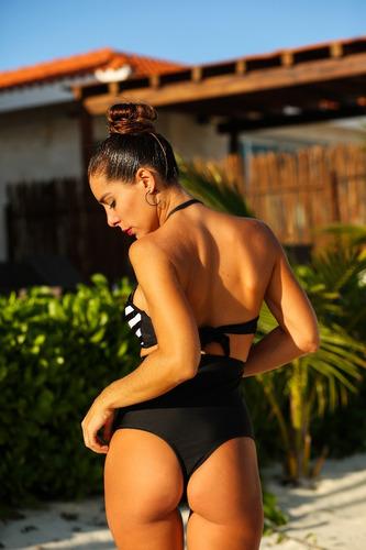 bikinis mallas- solo bombacha pin up culote tiro alto mujer