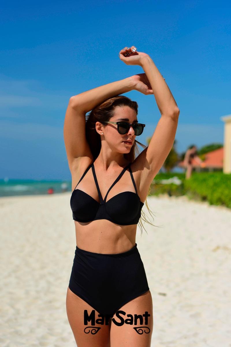 5ee4c49f2c0b Bikinis Mallas- Solo Bombacha Pin Up Culote Tiro Alto Mujer