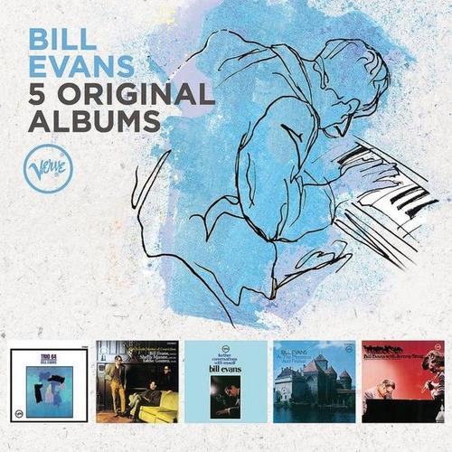 bill evans - colección de álbumes originales - 5 cds.