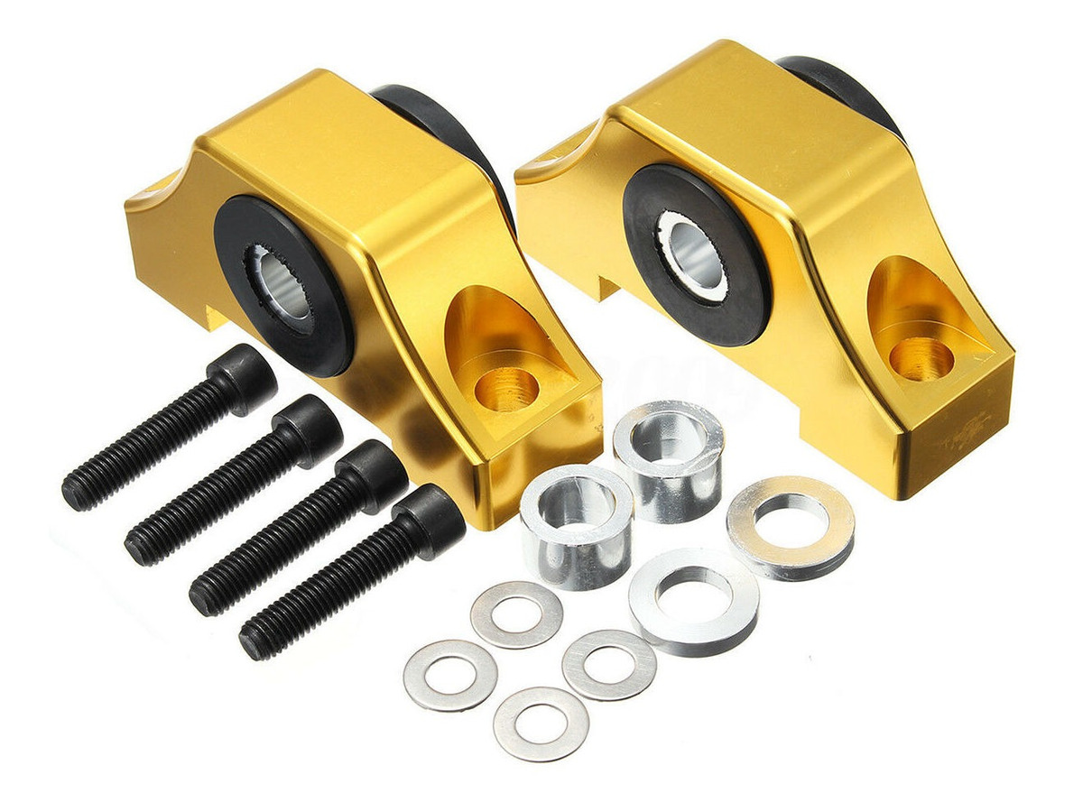 Set of Billet Torque Mounts for 1992-2000 Honda Civic or any B-series//D-series and 1994-2001 Acura Integra motor using OE style torque mounts. Black