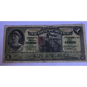 Billete $1 Banco Nacional De Mexico 1913 Excelente