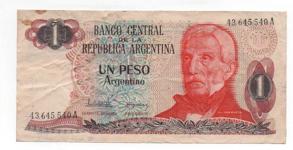 Resultado de imagen de Peso argentino (1983–1985)