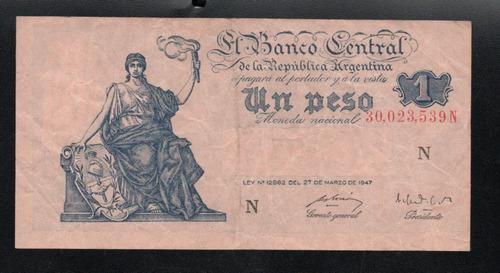 billete 1 peso moneda nacional progreso bottero 1841