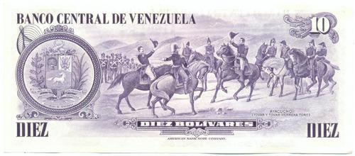 billete 10 bolívares de 1980 serial  a7 conmemorativo  au