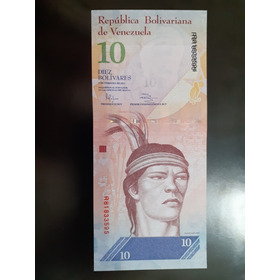 Billete 10 Bolivares Fuerte Con Error Serial (30 Verdes)