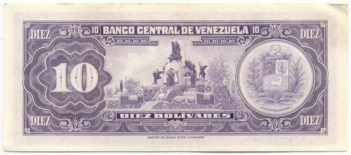 billete 10 bolívares septiembre 18 de 1979 serial d8  ef+