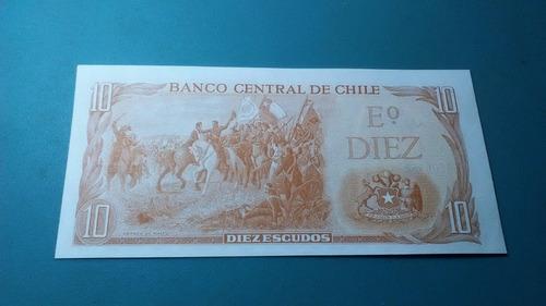 billete 10 escudos - unc (josé manuel balmaceda)