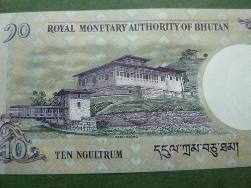 billete 10 ngultrum 2013 bhutan ( foto referencial ) - vp