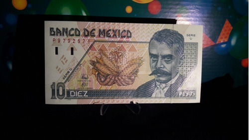billete 10 pesos emiliano zapata nuevo sin circular c/envío.