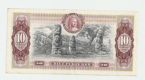 billete 10 pesos oro del 7 de agosto de 1980. envío gratis.