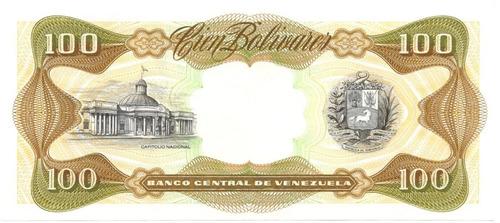 billete 100 bolívares octubre 13 de 1998 serial j8