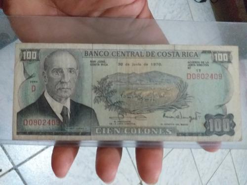 billete 100  colones vaquitas banco central de costa rica.