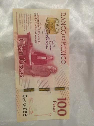 billete $100 constitución