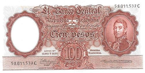 billete 100 pesos moneda nacional bottero 2065 sin circular