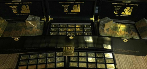 billete 100 trillion dollars zimbabwe gold