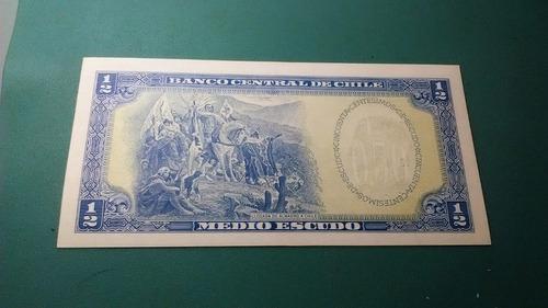 billete 1/5 medio escudos - unc (b. o`higgins)