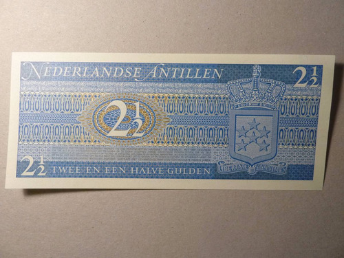 billete 2 1/2 gulden 1970 antillas holandesas  - vp