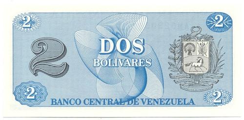 billete 2 bolívares - tinoquito octubre 5 de 1989 serial am7