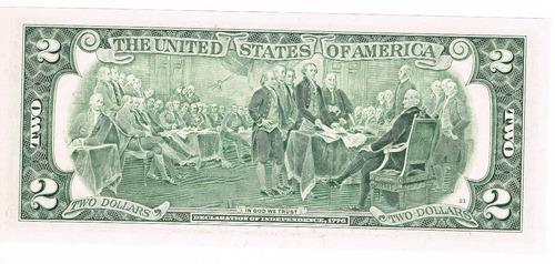 billete 2 dolares el famoso billete de la suerte.