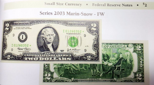 billete 2 dolares usa 2003 i minneapolis firma: marin-snow