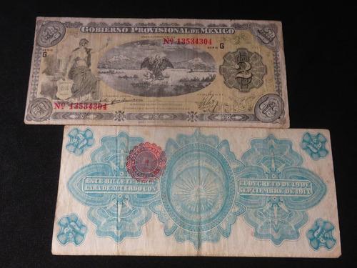 billete 2 pesos  gobierno provisional mexico veracruz 1915