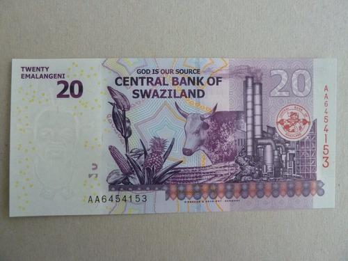 billete 20 emalangeni 2010 unc swaziland / suazilandia - vp