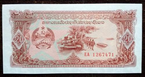 billete 20 kip laos 1979 sin circular