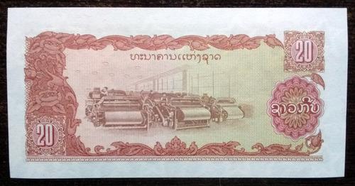 billete 20 kip laos 1979 sin circular unc