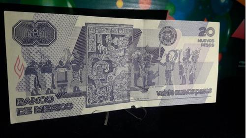 billete 20 nuevos pesos andrés quintana roo poco circulado.