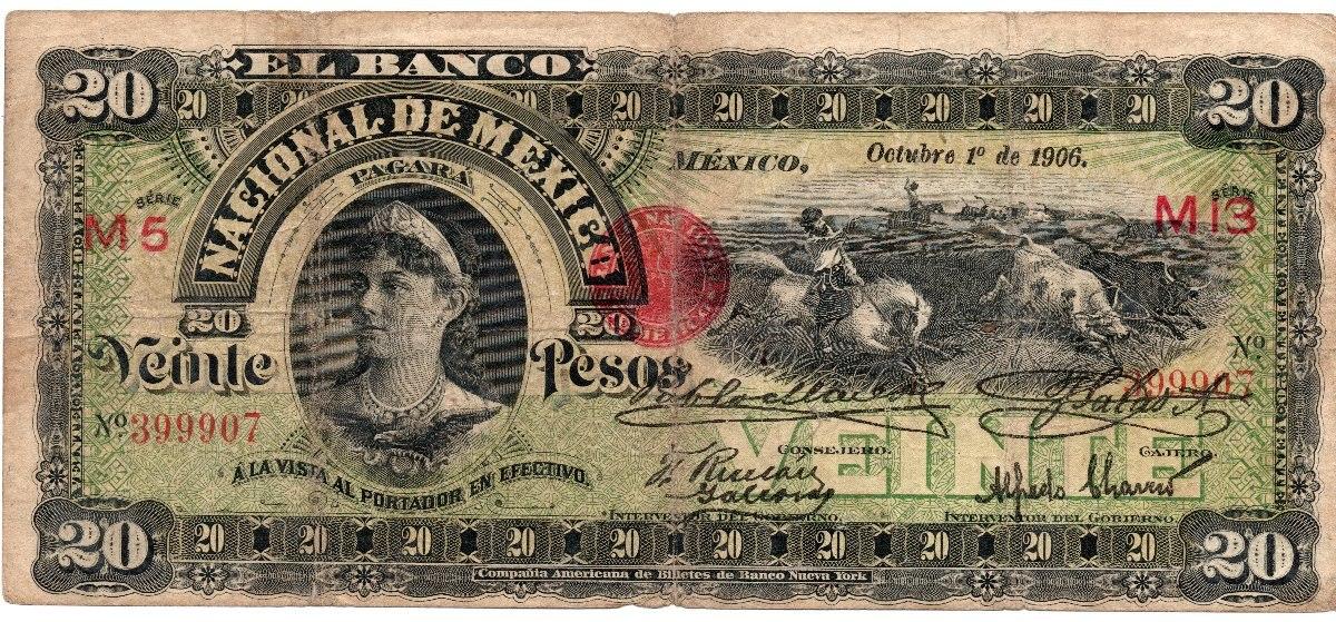 BANCO DEL ESTADO DE MEXICANO 1906