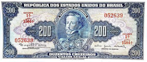 billete 200 cruceiros - 1964