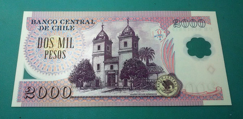 billete 2000 pesos polímero (manuel rodríguez) unc - 2004