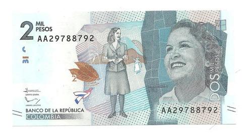 billete 2.000 pesos radar 19 de agosto de 2015 unc, ab ac ad